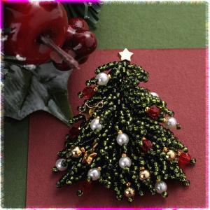 ビーズ キット クリスマスツリー クリスマスブローチ|beadsmania-shop