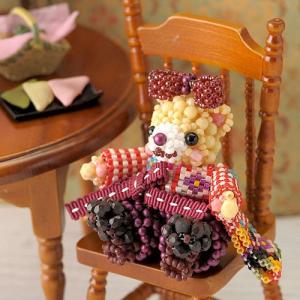 ビーズ キット どうぶつ テディベアシリーズ〜はいからさん・お姉ちゃん〜  春特集 ビーズマニア|beadsmania-shop