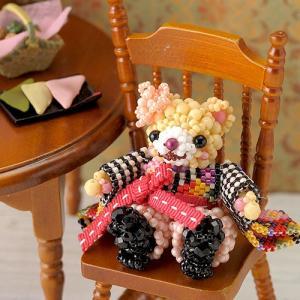 ビーズ キット どうぶつ テディベアシリーズ〜はいからさん・いもうと〜  春特集 ビーズマニア|beadsmania-shop