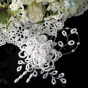 手作りキット 手芸 ビーズキット ハンドメイド キット TOHO Beads Jewelry Mariage〜マリアージュ〜(2wayヘッドアクセサリー)|beadsmania-shop
