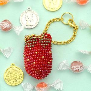 ビーズ キット がまぐち TOHO ビーズクロッシェでつくる小さながまぐち&ポーチ≪ストロベリー≫|beadsmania-shop