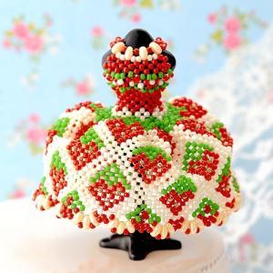 ビーズ キット レシピ 【ミニチュアドレスキット】strawberry 春特集|beadsmania-shop