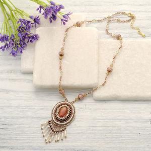 ビーズ 刺繍 キット カスカードネックレス(ピンク)|beadsmania-shop