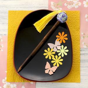 ビーズ キット アクセサリー 手毬かんざし〜紅桔梗べにききょう〜  ビーズマニア beadsmania-shop
