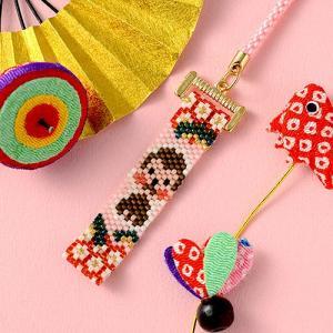 ビーズ キット 干支 ホビックス ビーズステッチで作る「吉祥申の根付け」|beadsmania-shop