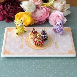 ケーキ皿 インテリア ビーズマニア・オリジナル☆ディスプレイ皿|beadsmania-shop