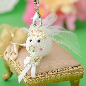 ビーズ キット レシピ 幸せコロブタ・ウエディング・花嫁(6月)|beadsmania-shop