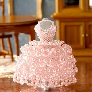 ビーズキット レシピ 【ミニチュアドレスキット】Christina /クリスティーナ(ピンク) beadsmania-shop