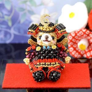 ビーズキット 端午の節句 こどもの日 飾り テディベアシリーズ〜五月人形〜  ビーズマニア|beadsmania-shop