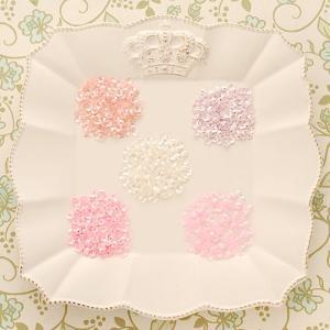 ハンドメイド アクセサリー ラティーフ フラワースパンコール 5色セット ピンク系 beadsmania-shop