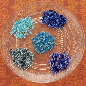 ハンドメイド アクセサリー ラティーフ フラワースパンコール 5色セット ブルー系|beadsmania-shop