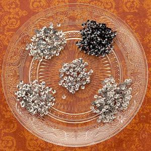 ハンドメイド アクセサリー ラティーフ フラワースパンコール 5色セット シルバー系|beadsmania-shop