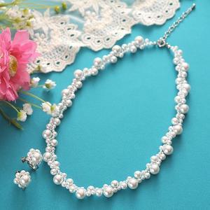 ビーズキット アクセサリー Laciq Beads チェリーパールのネックレス&イヤリング|beadsmania-shop