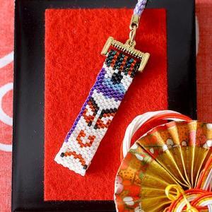 手作りキット 手芸 ビーズキット ハンドメイド 手芸 キット ホビックス 歌舞伎・隈取柄根付け(助六)|beadsmania-shop