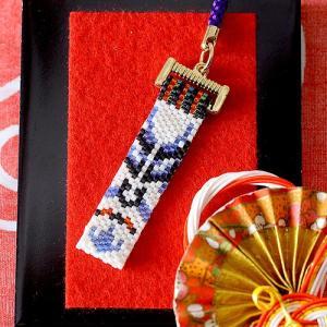 手作りキット 手芸 ビーズキット ハンドメイド 手芸 キット ホビックス 歌舞伎・隈取柄根付け(時平)|beadsmania-shop