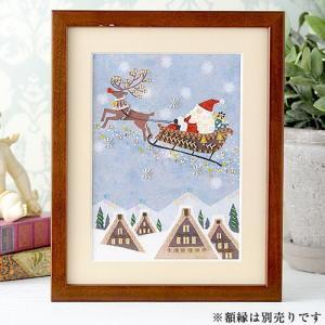 手芸 簡単手作りキット ビーズファクトリー 〜Beads Decor〜サンタクロースとトナカイ(師走・12月) ※額は別売り クリスマス特集|beadsmania-shop