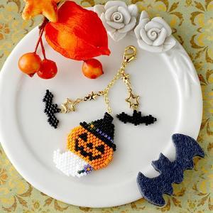ビーズキット レシピ ハロウィン☆かぼちゃ&おばけ|beadsmania-shop