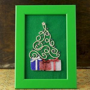 ビーズ キット レシピ クリスマスフレーム ツリー beadsmania-shop
