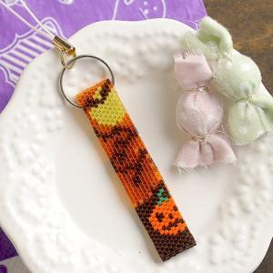 ビーズ キット レシピ Happy Halloween オレンジ♪ストラップ|beadsmania-shop