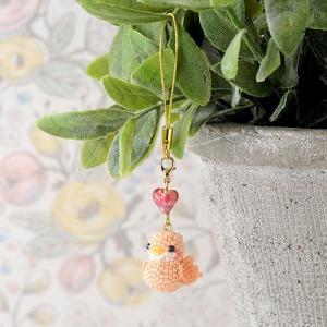 ビーズキット レシピ Happy☆Birdストラップ (ピンク) beadsmania-shop