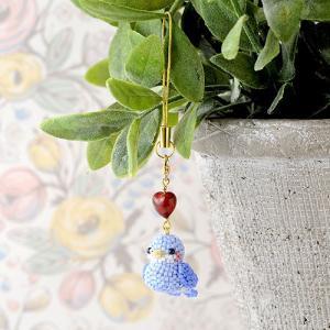 ビーズキット レシピ Happy☆Birdストラップ (ブルー) beadsmania-shop
