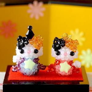 手作りキット 手芸 ビーズキット ハンドメイド 手芸 キット ひな祭り特集 キラ星 三毛猫のおひなさま|beadsmania-shop