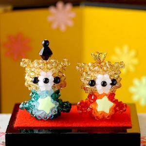 手作りキット 手芸 ビーズキット ハンドメイド 手芸 キット ひな祭り特集 キラ星 くまのおひなさま|beadsmania-shop