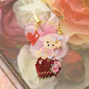 ビーズキット レシピ ちびくま ハートチョコ  【作家:新井桂子(Fairy-R)】|beadsmania-shop