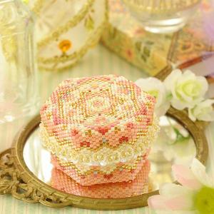 ビーズキット アクセサリー ステッチボックス〜手毬箱・桜〜 ビーズマニア|beadsmania-shop