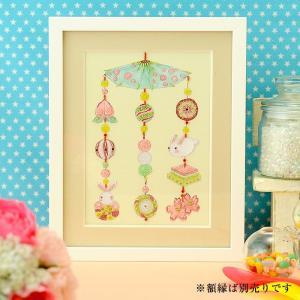 ビーズキット ビーズデコール ひな祭り特集 ビーズファクトリー 〜Beads Decor〜桃の節句と吊るし飾り(3月) ※額は別売り|beadsmania-shop