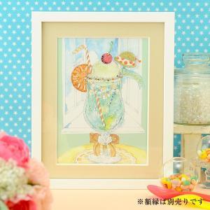 ビーズキット ビーズデコール ビーズファクトリー 〜Beads Decor〜窓辺のクリームソーダ(8月) ※額は別売り|beadsmania-shop