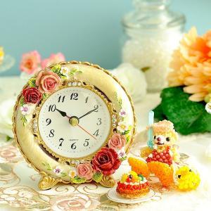 ギフト 薔薇 〜ロイヤルローズ〜置時計|beadsmania-shop