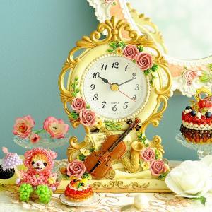 ギフト 薔薇 〜シンフォニー〜置時計|beadsmania-shop