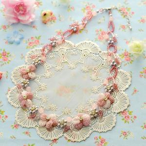 ビーズキット レシピ すみれのネックレス(ピンク) beadsmania-shop
