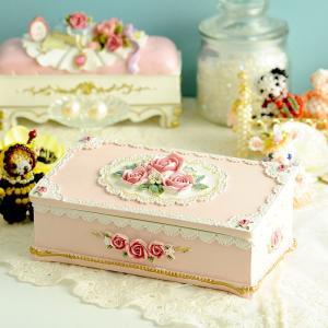 ジュエリーケース プレゼント 〜ピンクローズ〜リングケース|beadsmania-shop