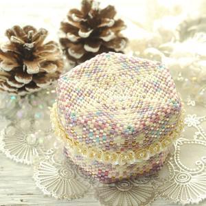 ビーズキット アクセサリー ステッチボックス〜手毬箱・雪夜〜 クリスマス特集 beadsmania-shop