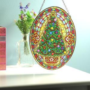 ステンドグラス サンキャッチャー 壁掛け Vintage Christmas|beadsmania-shop