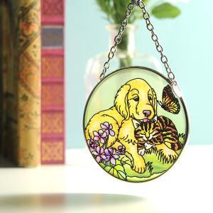 ステンドグラス サンキャッチャー 壁掛け Golden Spring|beadsmania-shop