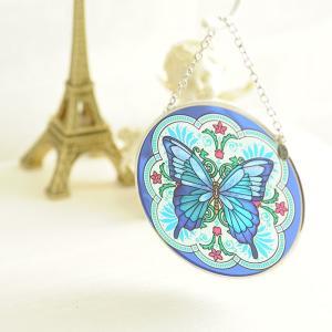 ステンドグラス サンキャッチャー 壁掛け Fritilary Flourish Butterfly|beadsmania-shop
