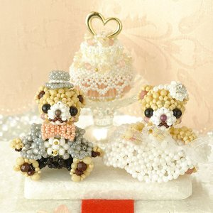 ビーズキット ハンドメイド プレミアム☆テディベア〜Happy Wedding〜  ビーズマニア|beadsmania-shop
