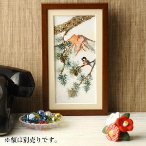ビーズ キット ビーズデコール ビーズファクトリー 〜Beads Decor〜松・ヤマガラ(1月) ※額は別売り|beadsmania-shop