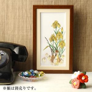 ビーズ キット ビーズデコール ビーズファクトリー 〜Beads Decor〜菖蒲・カルガモ(5月) ※額は別売り|beadsmania-shop