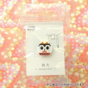 ハンドメイド作品 手作り TOHO JAPAN DESIGN BROOCHI 〜狛犬〜  ※完成品 beadsmania-shop