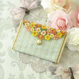 ビーズキット 雑貨 ミニポーチ〜薔薇と蝶〜  ビーズマニア beadsmania-shop