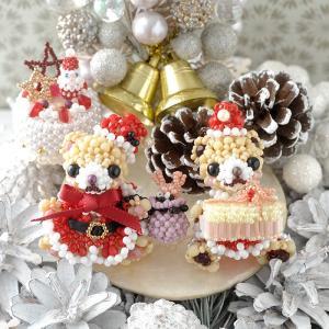 ビーズキット ビーズ キット ハンドメイド プレミアム☆テディベア〜Merry X'mas〜  ビーズマニア|beadsmania-shop