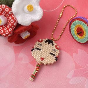 ビーズ キット 和風 日本 JAPAN ビーズファクトリー ゆれる福々チャーム 縁起物キット〜こけし〜|beadsmania-shop