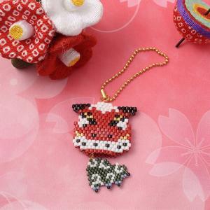 ビーズ キット 和風 日本 JAPAN ビーズファクトリー ゆれる福々チャーム 縁起物キット〜獅子舞〜|beadsmania-shop