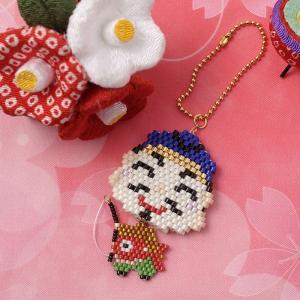 ビーズ キット 和風 日本 JAPAN ビーズファクトリー ゆれる福々チャーム 縁起物キット〜恵比寿〜|beadsmania-shop