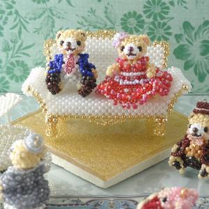 ビーズ キット ミニチュア家具 Babyギフト〜ロイヤルソファ〜  ビーズマニア|beadsmania-shop