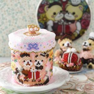 アクセサリーボックス ステッチボックス〜Sweets Party〜  ビーズマニア|beadsmania-shop